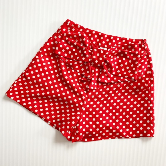 Disney Lauren Conrad Polka Dot Bow Shorts